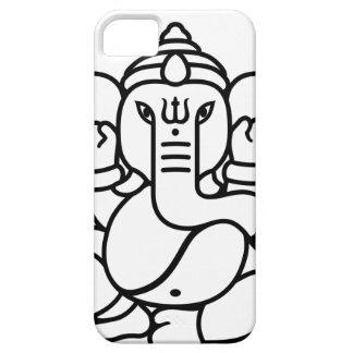 Ganesha象第3 (白黒) iPhone SE/5/5s ケース