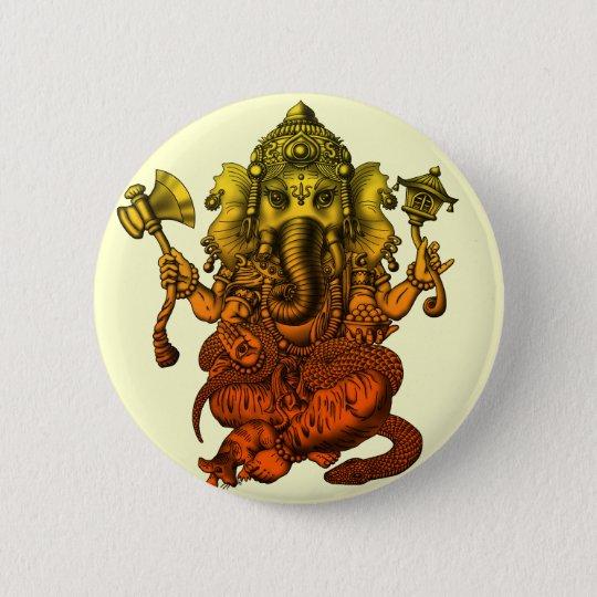 Ganesha7 5.7cm 丸型バッジ