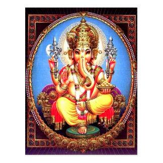 Ganesha (गणेश)のインドゾウ ポストカード