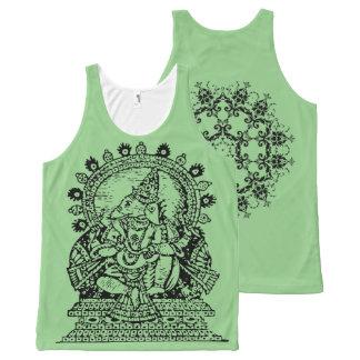 Ganesha -インドのデザイン オールオーバープリントタンクトップ