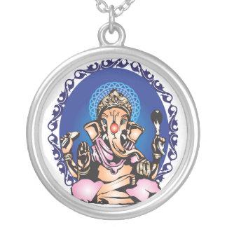 Ganesha シルバープレートネックレス