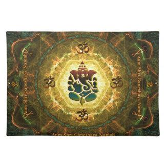 Ganesha -成功、勝利、繁栄、知識 ランチョンマット