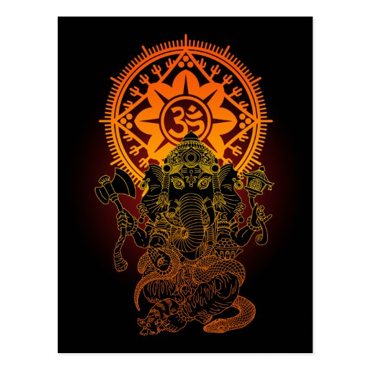 Ganesha 02 ポストカード