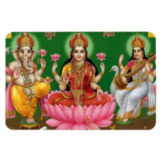 Ganesha、Lakshmi、及びSaraswatiの磁石 マグネット
