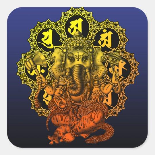 Ganesha Mandala2 スクエアシール