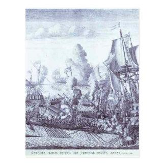 Gangut 1714年6月27日Alexey Zubov著の戦い ポストカード