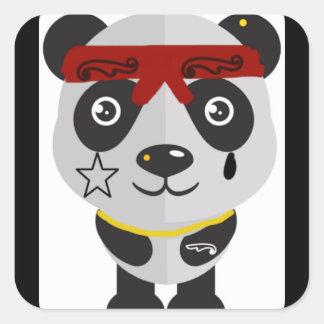 Ganstaのパンダのステッカー スクエアシール
