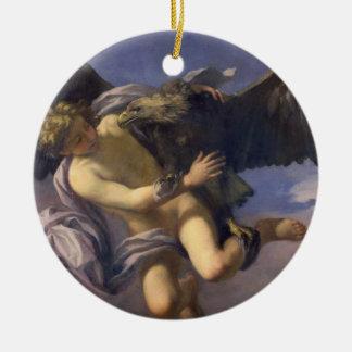 Ganymede 1700年の外転(キャンバスの油) セラミックオーナメント