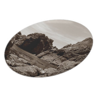 Garaの石へのデボン南Garaの石。セピア色 プレート