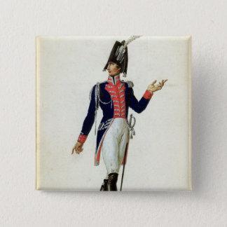 Garde du Corpsの役人 5.1cm 正方形バッジ