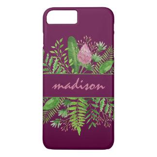 Garden Woods Botanical Typography iPhone 8 Plus/7 Plusケース