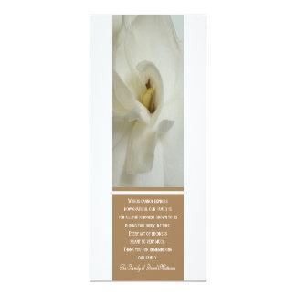 Gardeniaの悔やみや弔慰は招待状カード感謝していしています 10.2 X 23.5 インビテーションカード