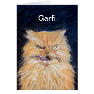 Garfiの挨拶状 カード