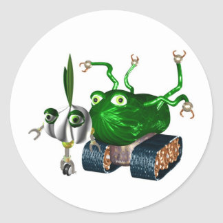 GarlicBot CucumberBot ラウンドシール