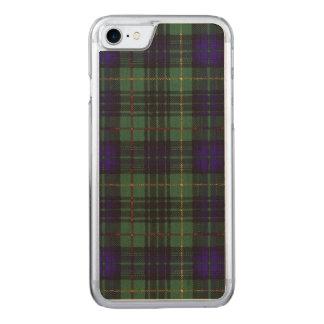 Garrowの一族の格子縞のスコットランドのキルトのタータンチェック Carved iPhone 8/7 ケース