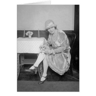 Garter 1926年に隠れるフラスコ グリーティングカード