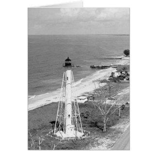 Gasparillaの島の後部範囲の灯台 カード