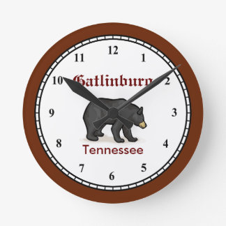 Gatlinburgテネシー州の時計 ラウンド壁時計