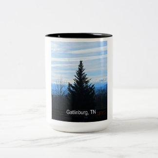 Gatlinburg、テネシー州 ツートーンマグカップ