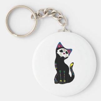 「Gato Muerto」Dia De Los Muertos Cat キーホルダー