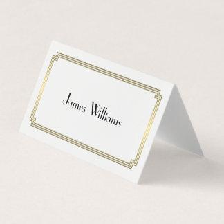 Gatsbyの素晴らしいアールデコは食器セットカードを折りました カード
