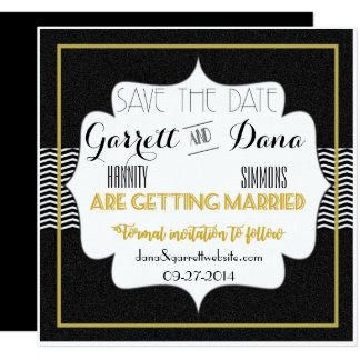 Gatsbyの金ゴールドのコレクションの保存日付カード 13.3 スクエアインビテーションカード