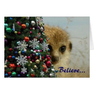 Gattacaの子犬の魔法の休日-挨拶状 グリーティングカード