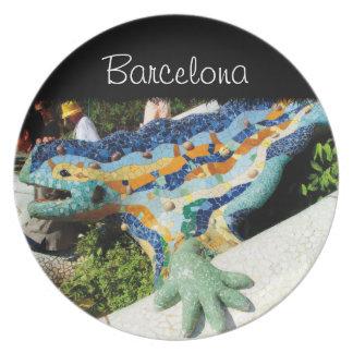 Gaudiのトカゲのモザイク プレート