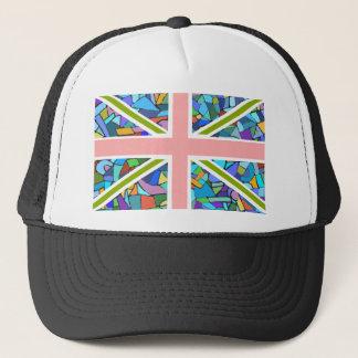 Gaudiのモザイクによってインスパイアイギリスの旗の英国国旗 キャップ