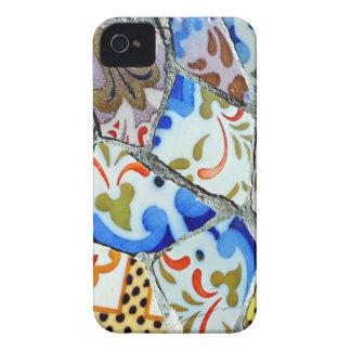 Gaudiの公園のGuellのモザイク・タイル Case-Mate iPhone 4 ケース