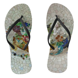 Gaudiの2つのモザイク ビーチサンダル