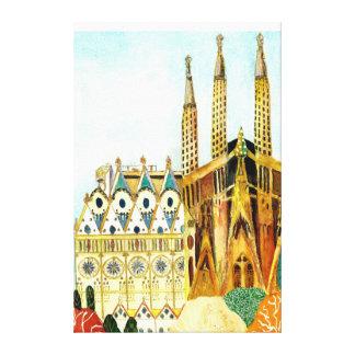 Gaudi 「sバルセロナ キャンバスプリント