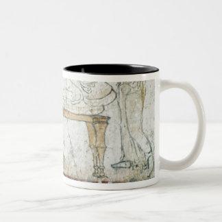 Gaudio、紀元前のc.480の墓からのフレスコ画 ツートーンマグカップ