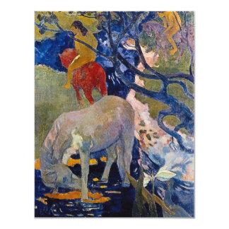 Gauguinのヴィンテージの印象主義の芸術著白馬 カード