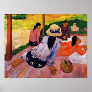 Gauguinの昼寝ポスター ポスター