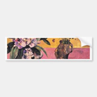 Gauguinポール著日本語Woodblockが付いている静物画 バンパーステッカー