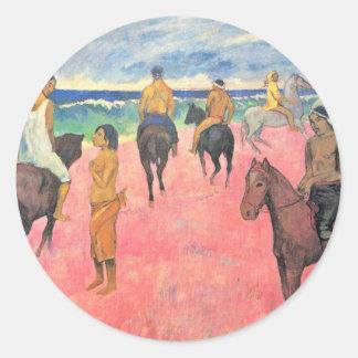 Gauguinポール(最も最高のな質)著ビーチの乗車 ラウンドシール