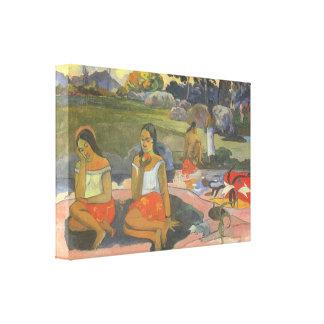 Gauguin著印象主義、楽しい眠気 キャンバスプリント