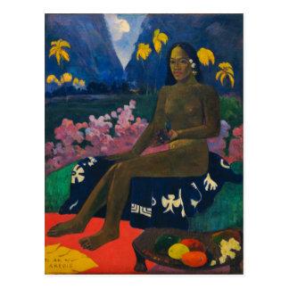 Gauguin著Areoiの種 ポストカード