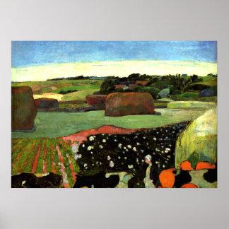 Gauguin -ブリッタニーのポール・ゴーギャンの芸術の三角波 ポスター