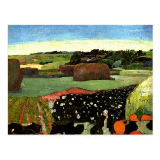 Gauguin -ブリッタニーのポール・ゴーギャンの芸術の三角波 ポストカード