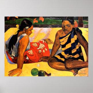 Gauguin -何が新しいですか。 ポール・ゴーギャン著絵を描くこと ポスター