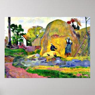 Gauguin -金収穫、ポール・ゴーギャンの絵画 ポスター