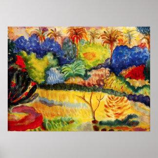 Gauguin Tahitianの景色ポスター ポスター