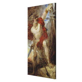 Gaulish勇気、c.1830-32のための勉強 キャンバスプリント