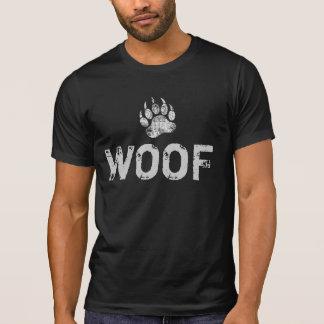Gay Bear Pride distressed Bear Paw WOOF Tシャツ