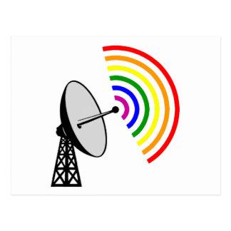 Gaydarの陽気な虹のレーダー ポストカード