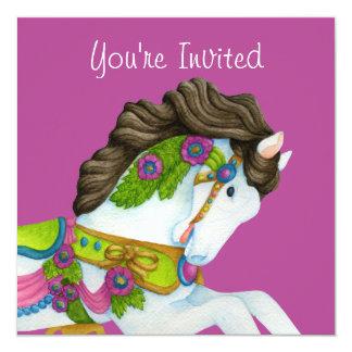 Gayleの回転木馬の馬の招待状 カード