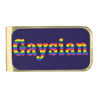Gaysianのグラフィック ゴールド マネークリップ
