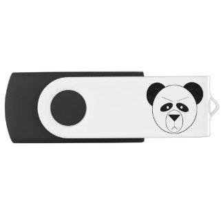 GB黒い気難しいパンダの銀、16 USBフラッシュドライブ